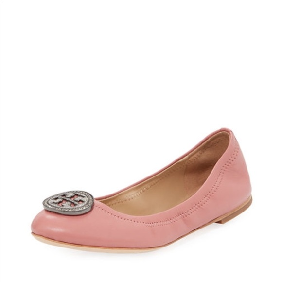 f7cc76db1fbc Tory Burch Liana flat in Pink Magnolia. M 5b4a72e9aa8770c5842372b6